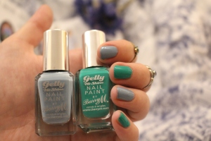 Barry M Gelly Nails at home gel nails in Elderberry and Kiwi review-001