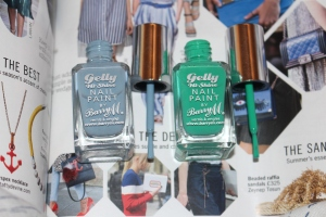 Barry M Gelly Nails at home gel nails in Elderberry and Kiwi review-002