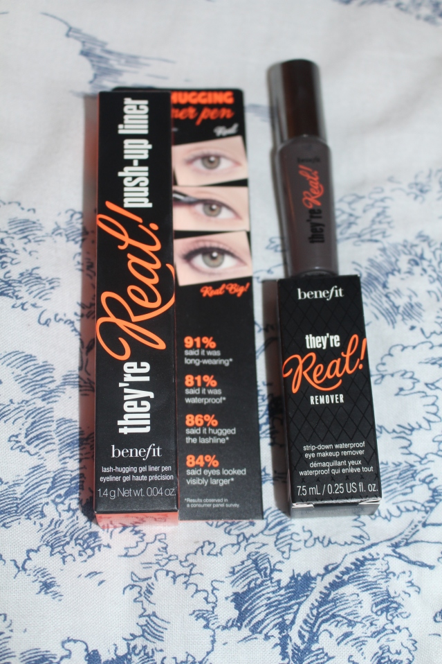 Benefit Theyre Real new release gel eyeliner and remover and posie balm