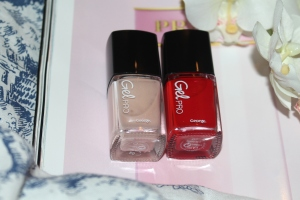 George at Asda Gel Pro at home gel polish in 02 Poppy Red and 04 Nude Beige review-001