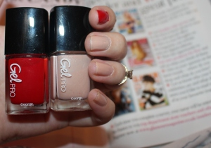 George at Asda Gel Pro at home gel polish in 02 Poppy Red and 04 Nude Beige review-004