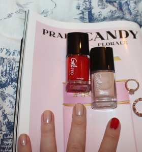 George at Asda Gel Pro at home gel polish in 02 Poppy Red and 04 Nude Beige review-005