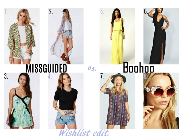 Missguided vs Boohoo wishlist summer fashion style edit