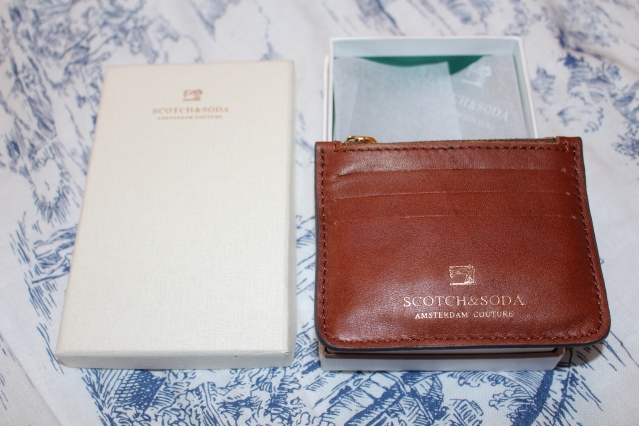 Scotch and Soda Tan Leather Card Holder Wallet Gift-002