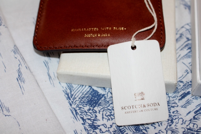 Scotch and Soda Tan Leather Card Holder Wallet Gift-005