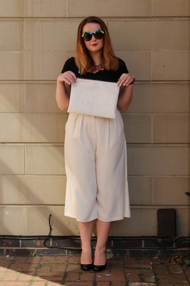 Topshop How to wear Culottes monochrome style ootd-001