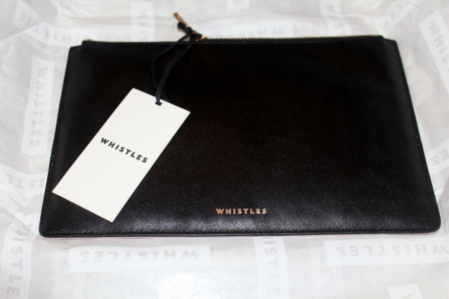 Whistles Sale 50% off Black Clutch Bag-001
