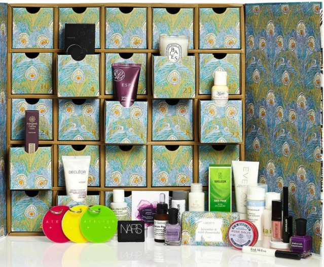 liberty london advent calendar contents