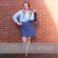 OOTD: Blue Vintage
