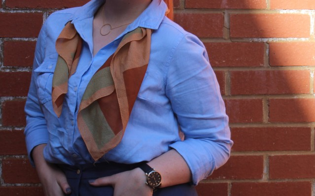 ASOS Aline skirt blue denim vintage style-003