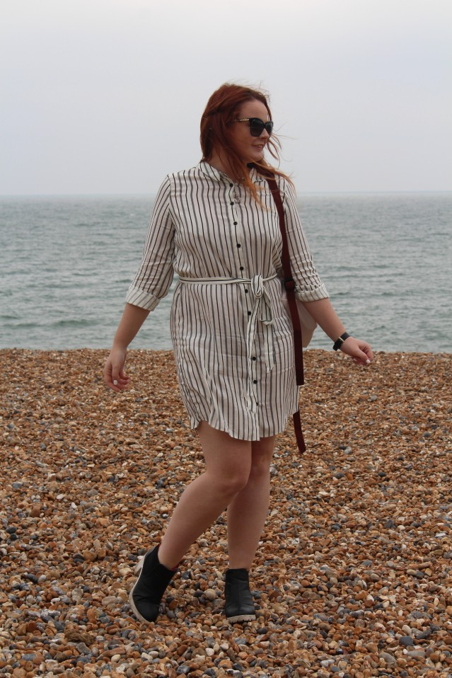 Brighton new look asos stripe shirt dress ootd-004