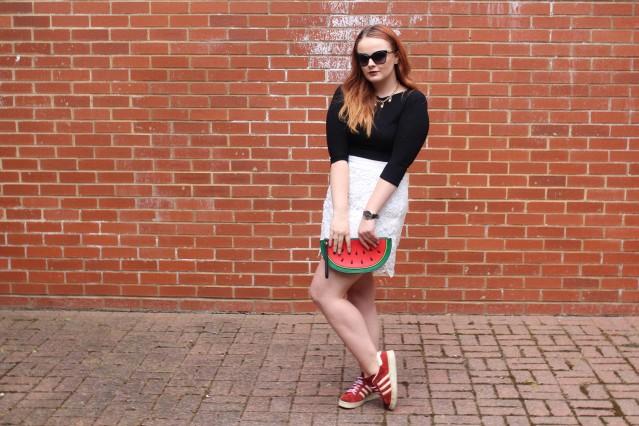 OOTD spring lace topshop skirt vintage adidas-001