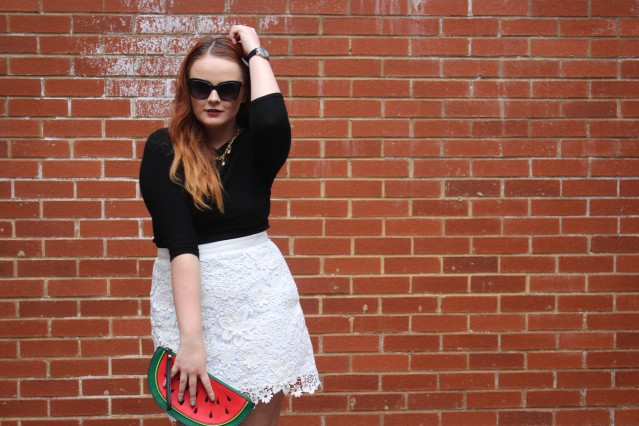 OOTD spring lace topshop skirt vintage adidas-002