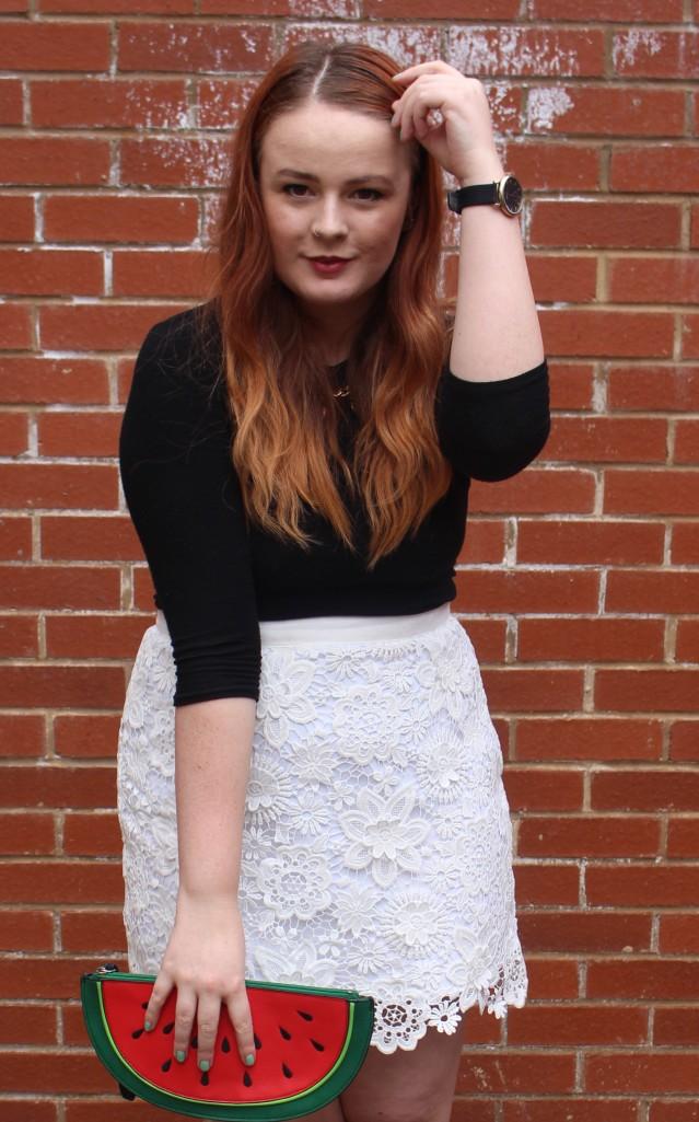 OOTD spring lace topshop skirt vintage adidas-004