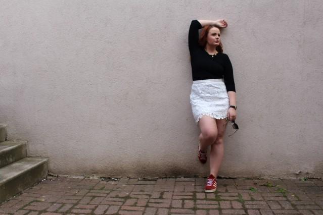 OOTD spring lace topshop skirt vintage adidas-007