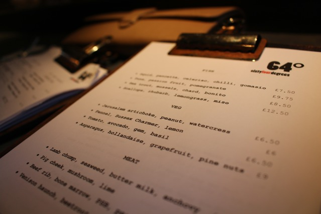 64 degrees brighton menu review-001