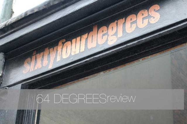 64 degrees brighton menu review COVER