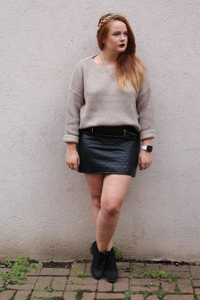 OOTD ASOS cable knit jumper cold summer style-006