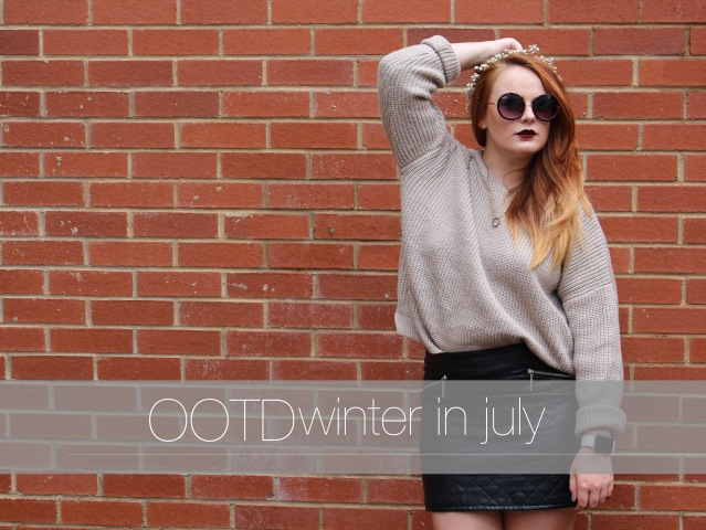 OOTD ASOS cable knit jumper cold summer style cover
