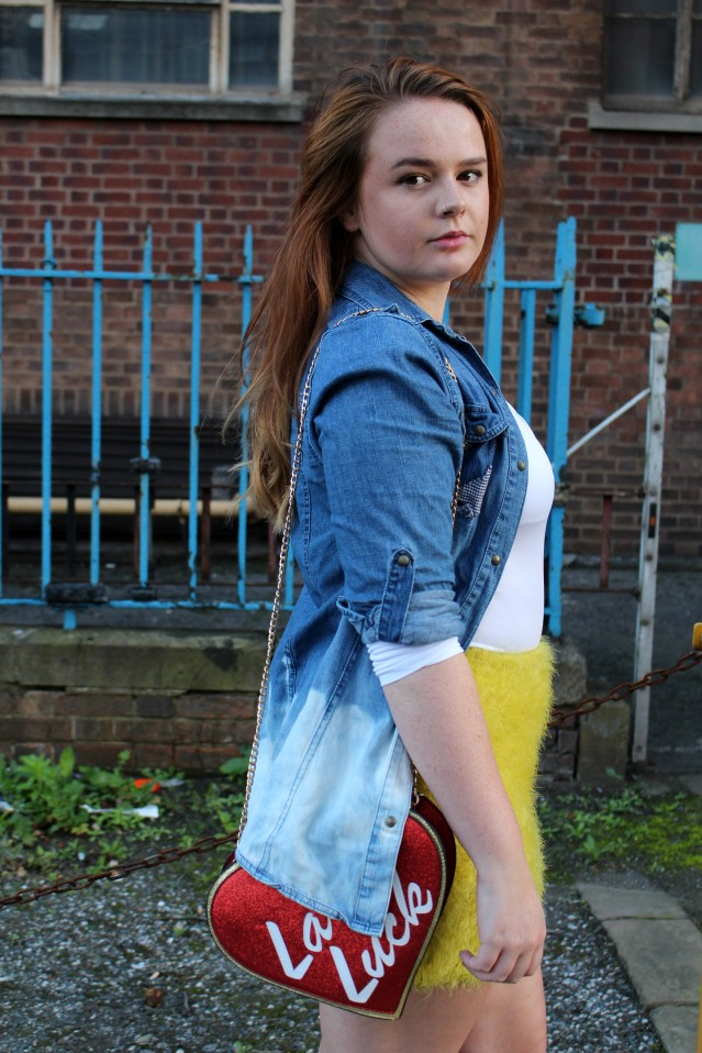 Distressed Denim and ASOS Lady Luck Bag Felicity Hayward-004