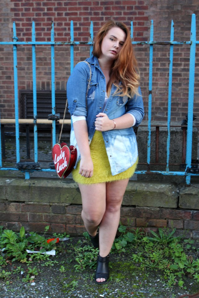 Distressed Denim and ASOS Lady Luck Bag Felicity Hayward-005