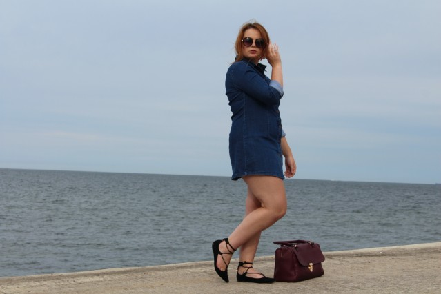 Seaside Denim Dress OOTD-005