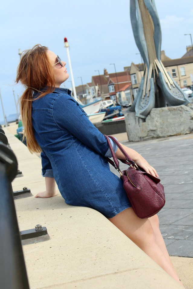 Seaside Denim Dress OOTD-009
