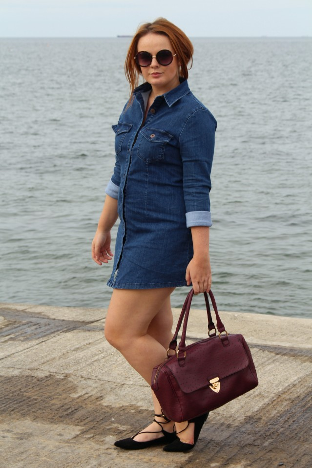 Seaside Denim Dress OOTD-011