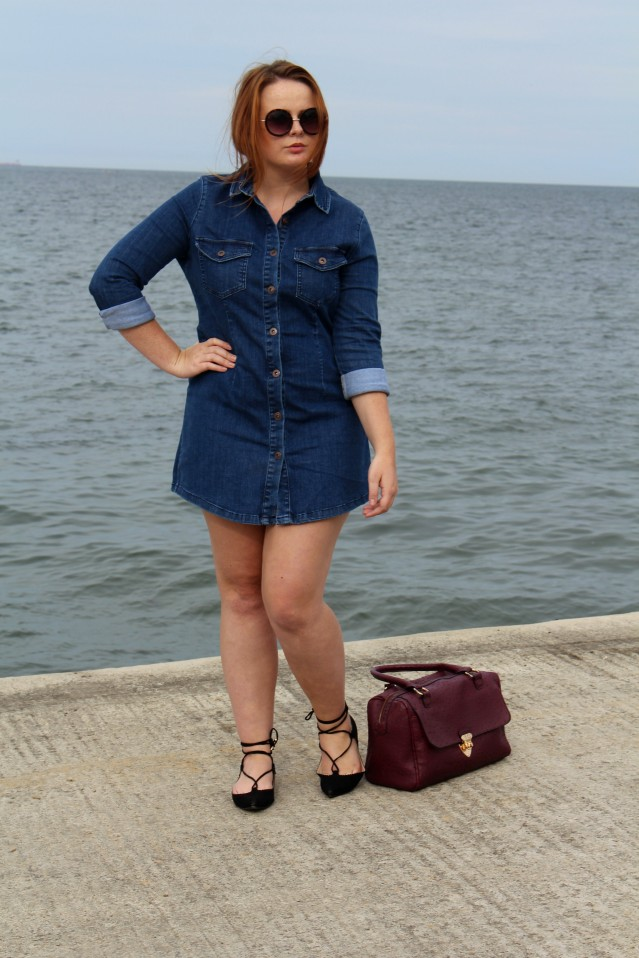 Seaside Denim Dress OOTD-012
