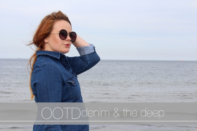 Seaside Denim Dress OOTD cover