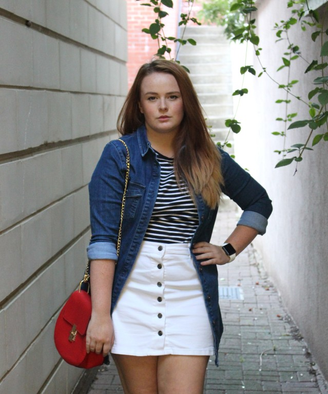 primark double denim ootd