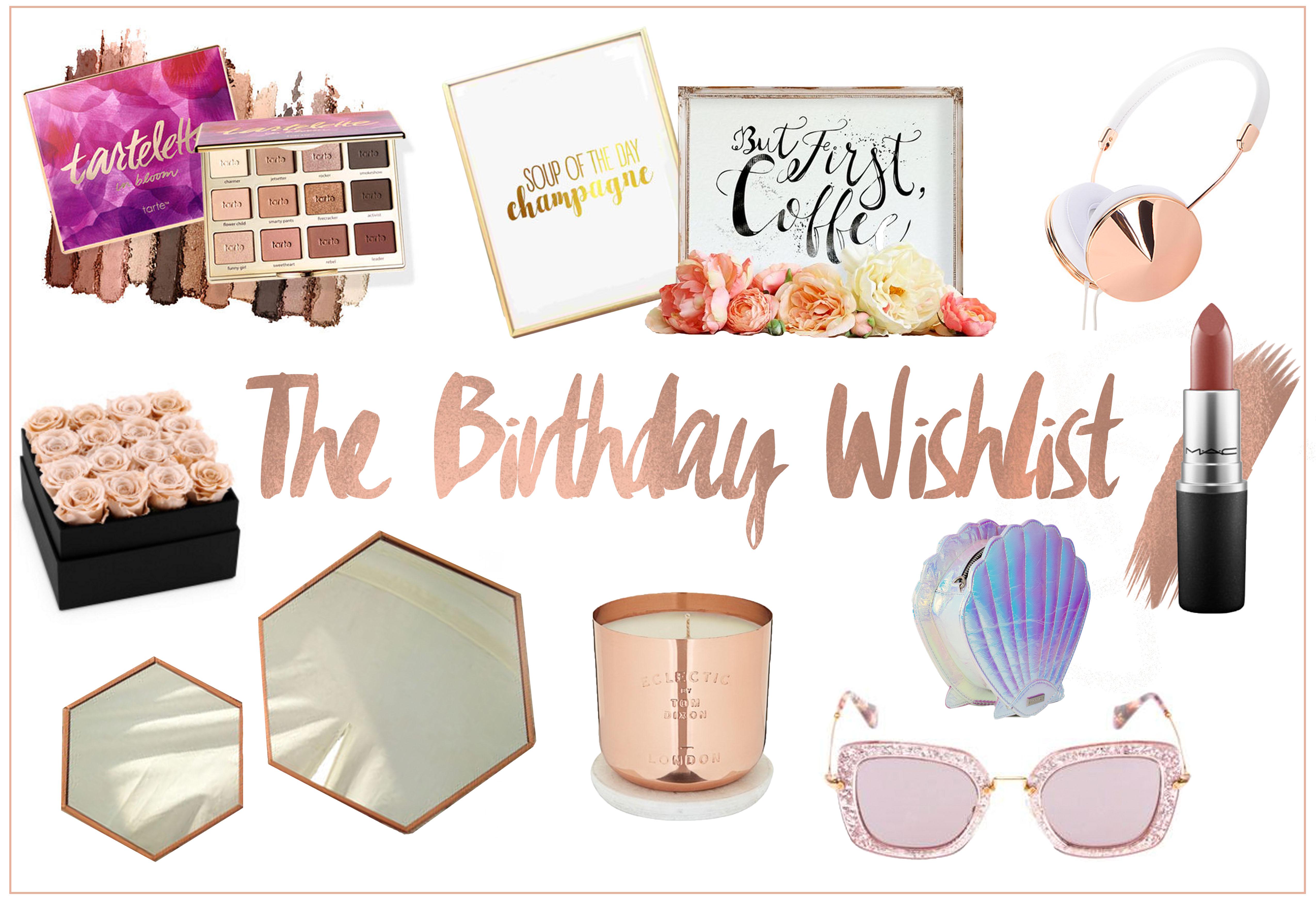 the rose gold birthday wishlist the fashion fictionary